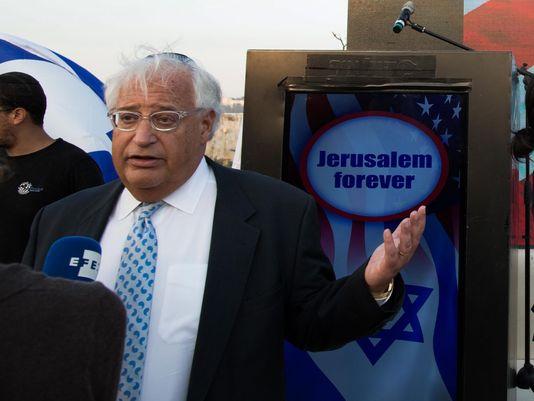 Trump's choice for Israel envoy elate's Israeli right, worries Palestinians