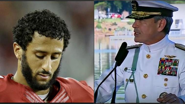 Navy admiral's Pearl Harbor speech trolls Colin Kaepernick