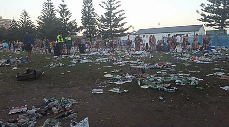 Australian beach bans alcohol after Christmas party leaves 15 tonnes of rubbish