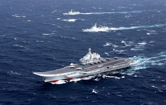Taiwan Scrambles Jets And Navy As China's Aircraft Carrier Enters Taiwan Strait