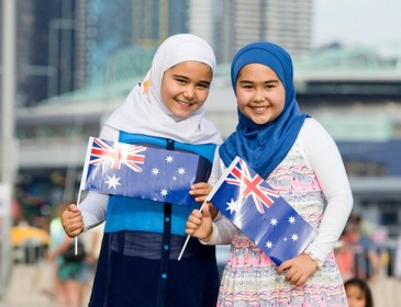 Canberra Theatre receives bomb threat for Australia Day billboard with girls in hijabs
