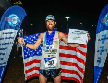 Американец пробежал семь марафонов за семь дней на семи континентах