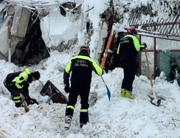 Rescuers given fresh hope as survivors found alive in avalanche hotel's kitchen
