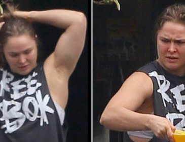 Pics: Ronda Rousey Emerges After Thugs Vandalise Her House