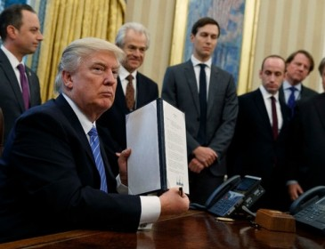 Donald Trump's orders on the Mexican wall, and refugees