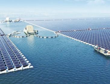В Китае заработала крупнейшая в мире плавучая электростанция
