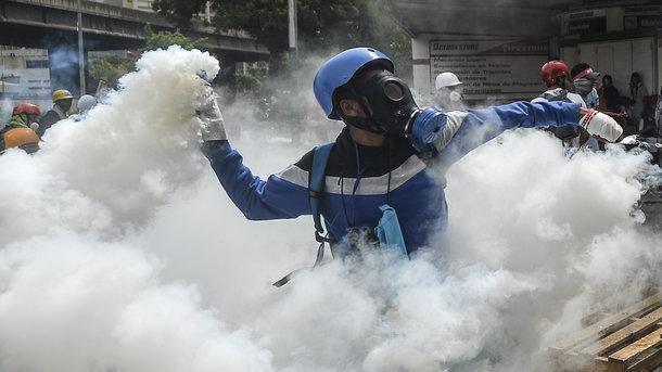 В Венесуэле во время протестов сожгли дом Уго Чавеса