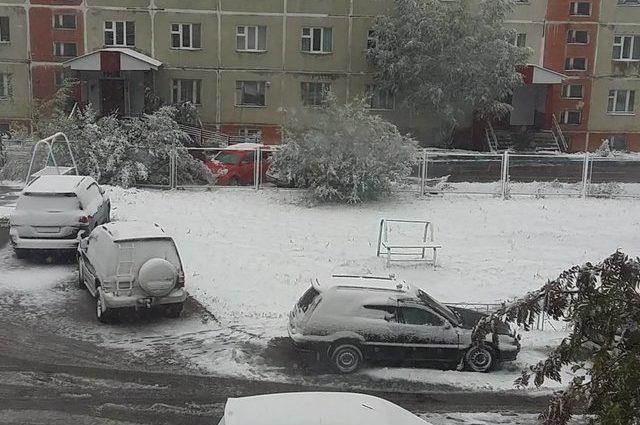 В России выпал первый снег: появились фото