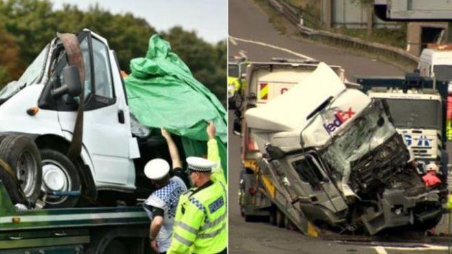 Страшная авария! Две фуры раздавили фургон: погибли восемь человек