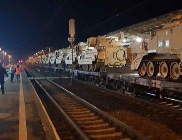 В Польше при перевозке повредили десять танков США
