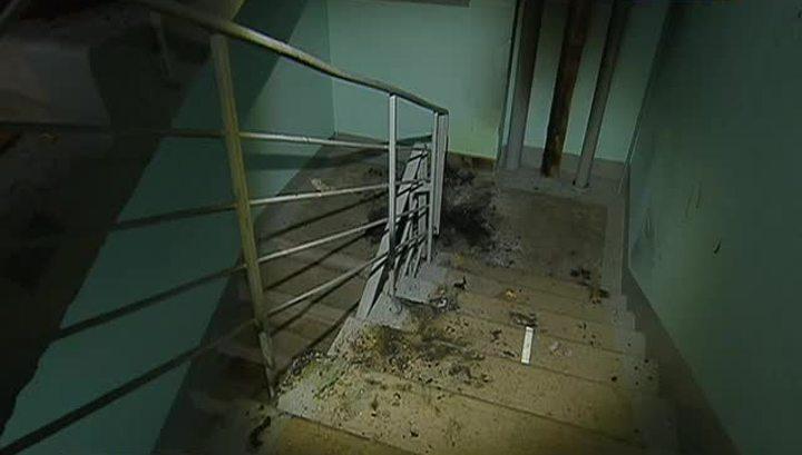 Мужчина сгорел заживо подъезде жилого дома