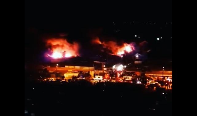 Ужасный пожар в Ростове-на-Дону: горит рынок