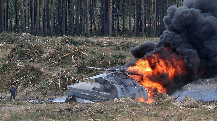 СРОЧНО! Разбился российский вертолет, на борту было 8 человек
