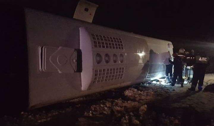 Из-за гололеда случилась жуткая авария с пассажирским автобусом: 14 людей  пострадали