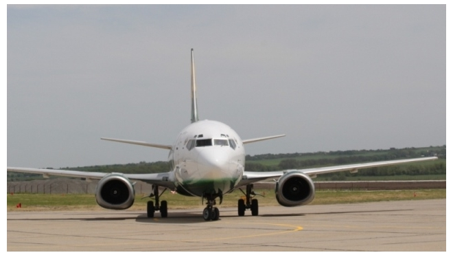На взлетной полосе в «Домодедово» задымился самолет
