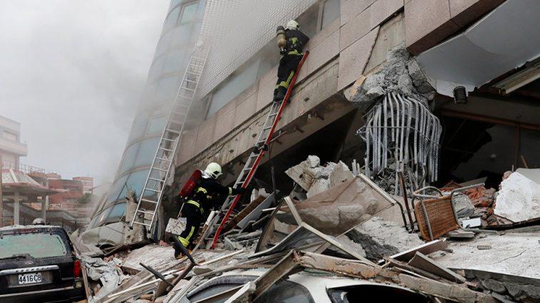 На Тайване произошло очень сильное землетрясение. О доле пострадавших неизвестно