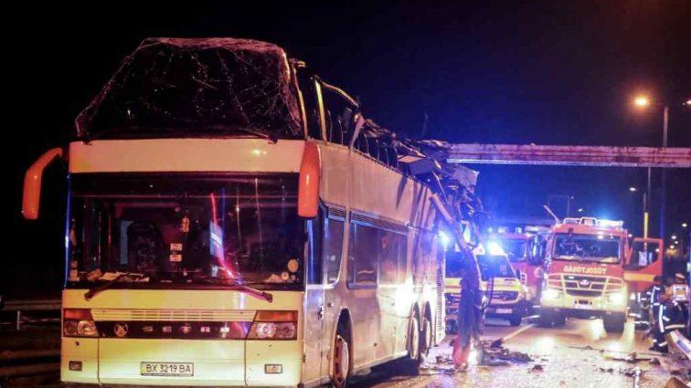 В Венгрии автобус с украинцами попал в ДТП. Есть пострадавшие