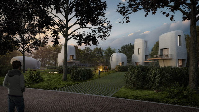 В Голландии начали печатать 3D дома