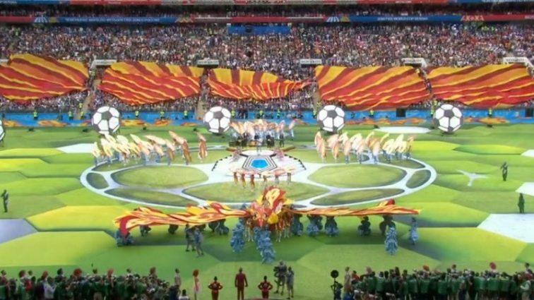 На открытии чемпионата мира в Москве случился курьез. Смеется весь мир