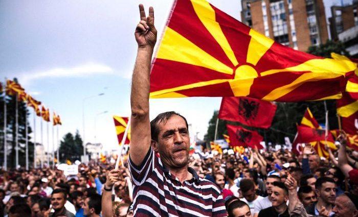 В Македонии в результате протестов пострадали люди