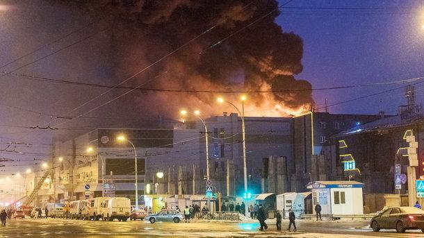 Большой пожар на рынке в Кении: есть погибшие