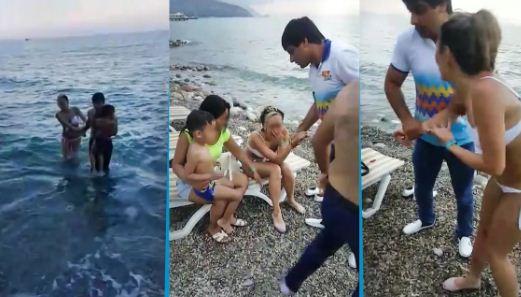 В Турции гражданка Казахстана хотела утопиться вместе с ребёнком (Видео)