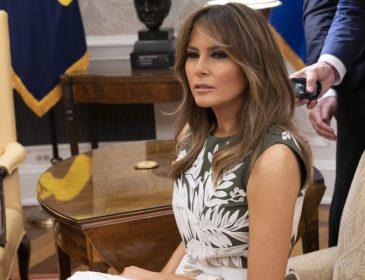 Меланья Трамп затмила своим нарядом во время встречи с королевской семьёй
