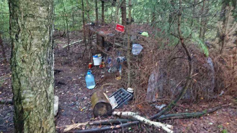 Мужчина из Белоруси сбежал от кредита и милиции в лес и прожил в шалаше два года