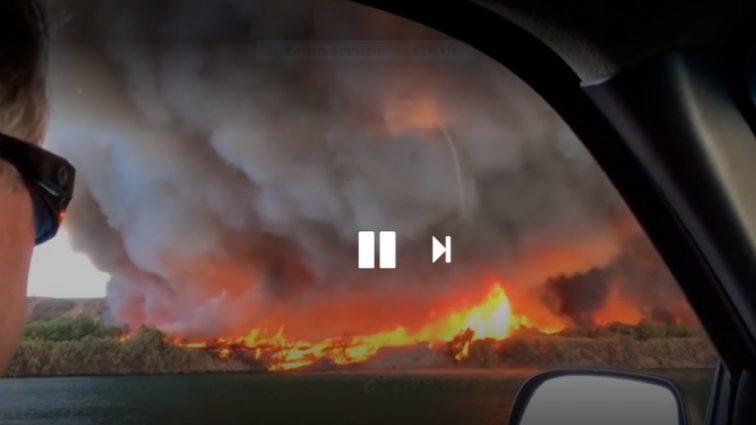 Такого вы еще не видели: в США огненный торнадо очевидцы сняли на видео