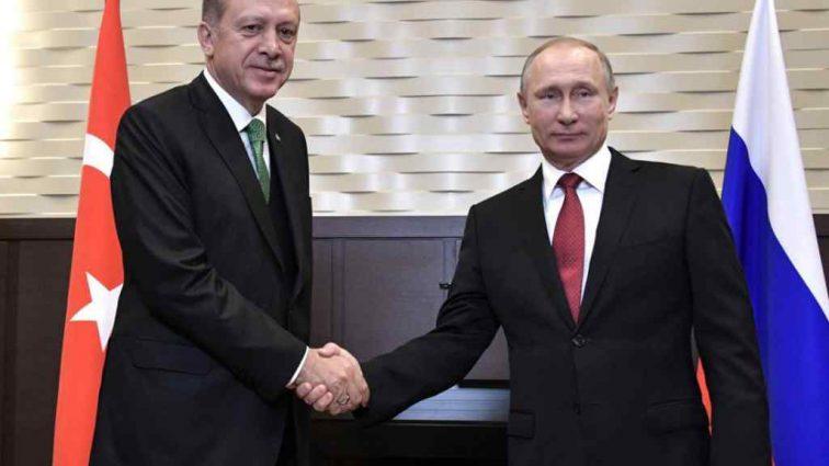 На встрече Путина и Эрдогана произошел казус