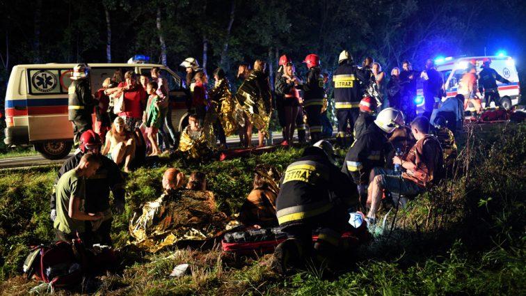 «Автобус упал с высокого склона, перевернувшись на крышу»: Более 50-ти пострадавших, есть погибшие