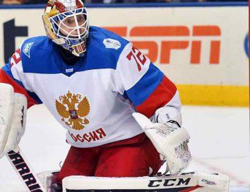 Российского хоккеиста признали лучшим вратарем НХЛ