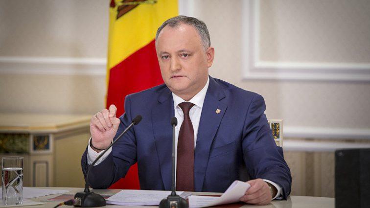 Игоря Додона отстранили от должности президента Молдовы