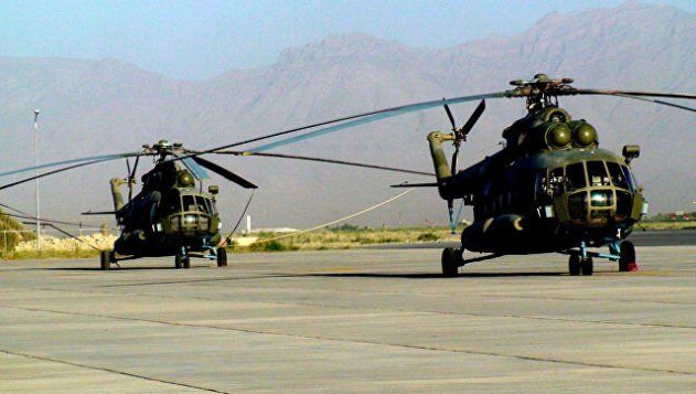 Военный вертолет разбился на территории Афганистана, есть жертвы