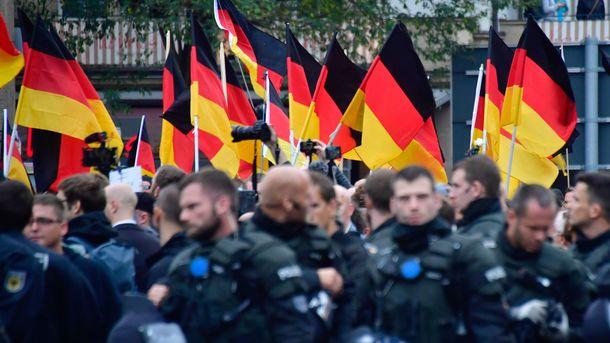 В Германии произошло столкновение демонстрантов с полицией