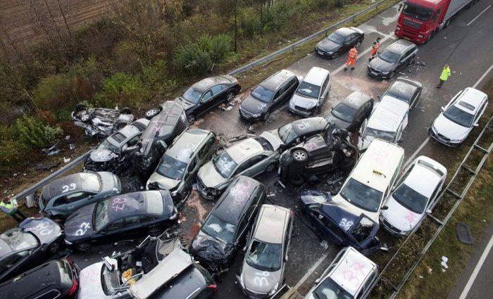 Массовое ДТП в Польше, столкнулись сразу 16 машин