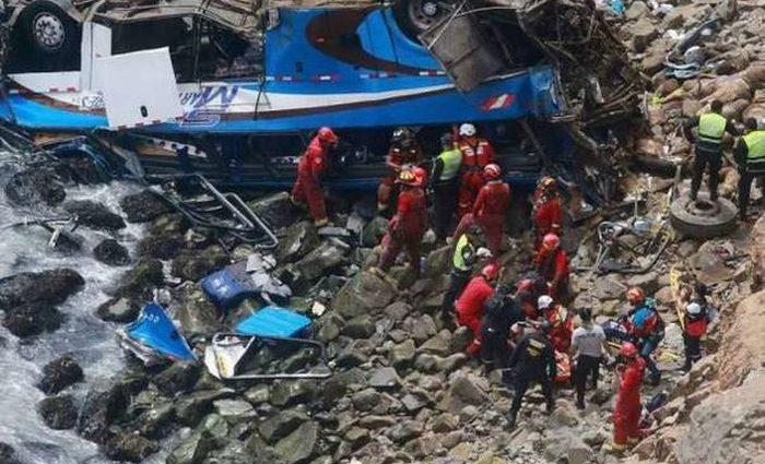 Автобус с футболистами упал в пропасть. Погибли 7 спортсменов
