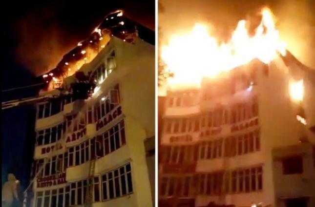 «Люди не могли выбраться»: В Индии вспыхнул популярный отель. Более 17 погибших