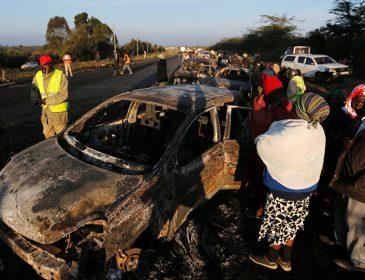В Кении произошло страшное ДТП, девять человек погибли